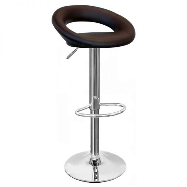 Sora Real Leather Kitchen Bar Stool - Brown