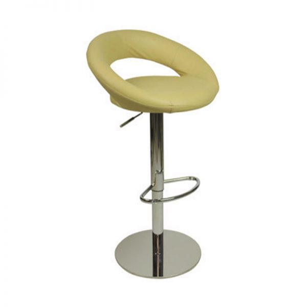 Sora Weighted Real Leather Kitchen Bar Stool - Cream