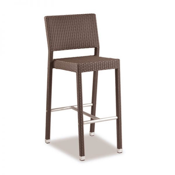 Tazimo PE Wicker Tall Kitchen Bar Stool - Mocca